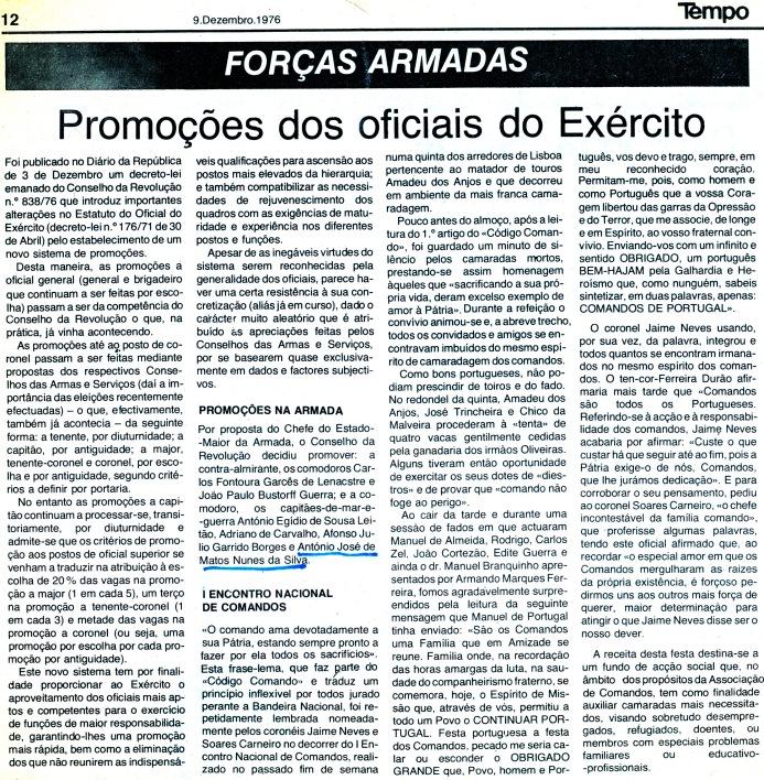 00789 976-12-09 Notícia no jornal TEMPO pg 12 da minha promoção