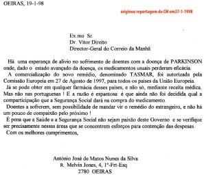 0059 doença de Parkinson -carta para CM 19-1-1998