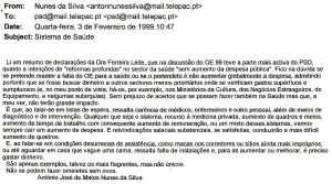0117 saúde -mensagem a PSD 3-2-1999