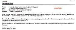 0157 encargos de saúde -meu mail a CM 28-4-1999
