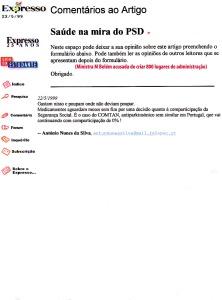 0173 Gastos na saúde Expr onl 22-5-1999