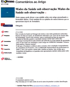 0265 males da saúde Expr onl 27-11-1999