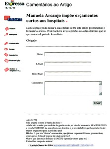 0280 encurtar orçamentos de hospitais -Expr onl 18-12-1999