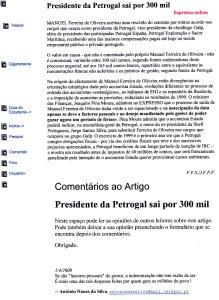 0332 indemnização astronómica a ex gestor -Expr onl 1-4-2000