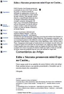 0337 despesismo de Sócrates com as mini-Expos, rede Polis -Expr onl 8-4-2000