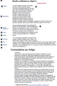 0339 Recifes artificiais no Algarve contra despesa em TGV -Expr onl 15-4-2000