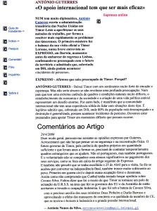 0345 o apoio a Timor  -Expr onl 29-4-2000
