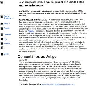 0349 condenação dos cortes na saúde -Expr onl 13-5-2000