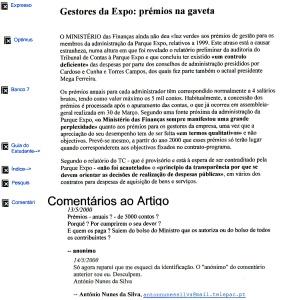 0350 prémios aos gestores da Expo -Expr onl 13-5-2000