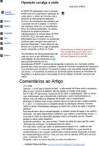 0355 debate parlamentar de Guterres e crítica à saúde proposta por Portas -Expr onl 21-5-2000