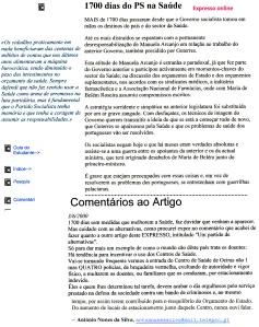 0359 1700 dias do PS na saúde -Expr onl 3-6-2000