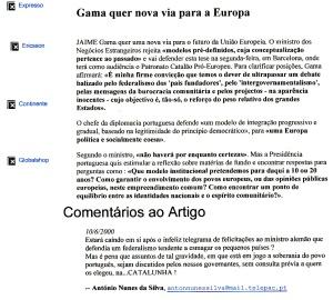 0361 Federalismo, integração -Expr onl 10-6-2000