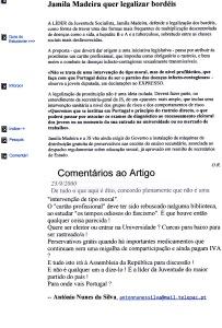 0403 Jamila Madeira quer legalizar bordéis 23-9-2000 Expr onl