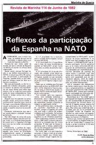 0001 Marinha, adesão de Espanha à NATO e FF -Rev de Marinha Junho 1982