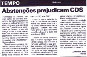 0012 abstenções -Tempo 12-5-1983