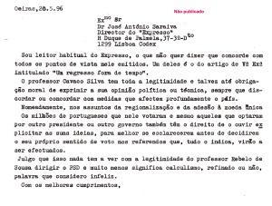 0034 Cavaco e direito de opinião Exp 20-5-1996