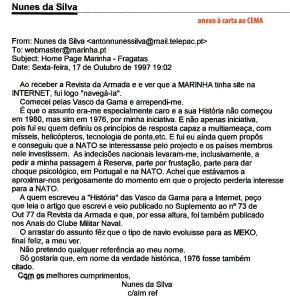 0058 História das Fragatas Vasco da Gama-anexo à carta ao CEMA sem resposta de 24-1-1998