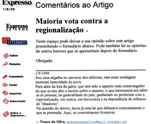 0080 regionalização -Exp onl 1-8-1998