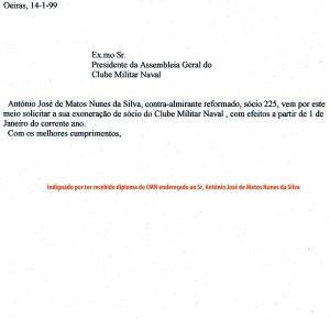 0110 Clube Militar Naval -carta de 14-1-1999