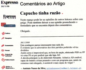 0116 eleições -Exp onl 30-1-1999