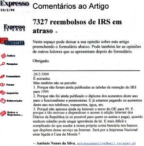 0127 dificuldades de acesso ao DR -Exp onl 20-2-1999 - Copy