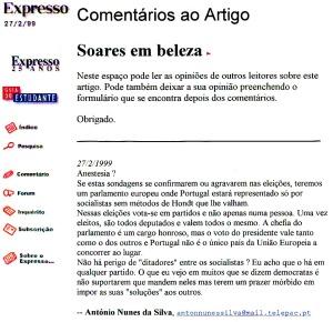 0131 Soares e eleições europeias Exp onl 27-2-1999