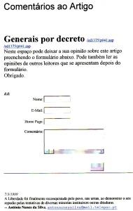 0136 generais por decreto -Expr onl 7-3-1999