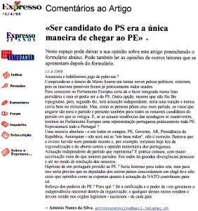 0148 eleições europeias- Soares -Exp 11-4-1999