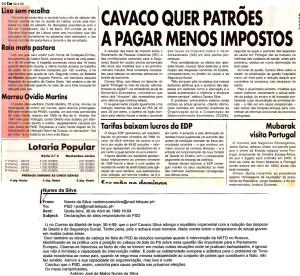 0158 Reformas estruturais de Cavaco em 1999 -CM 30-4-1999
