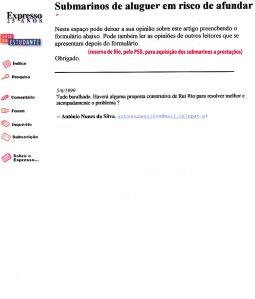 0177 aquisição dos submarinos -Expr online 5-6-1999