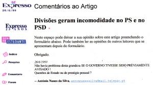 0182 Champalimaud-Santander -incomodidade no PS e PSD -Exp onl 26-6-1999