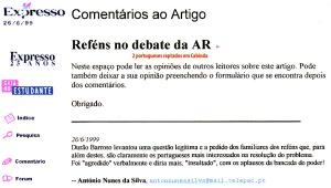 0183 Reféns no debate da AR -Expr onl 26-6-1999