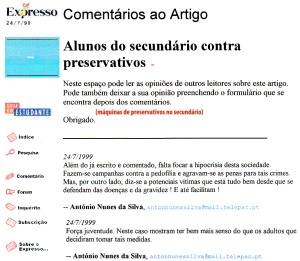 0198 máquinas de preservativos no secundário -Expr onl 24-7-1999 - Copy