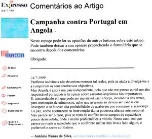 0200 Campanha contra Portugal em Angola -Expr onl 24-7-1999