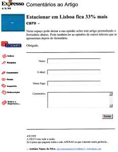 0218 parquímetros em Lisboa -Expr onl 4-9-1999