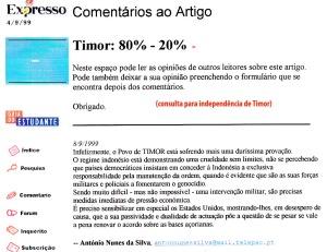 0219 consulta para independência de Timor -Expr onl 8-9-1999