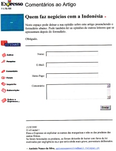 0222 negócios com Indonésia -Expr onl 11-9-1999