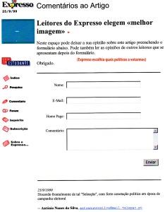 0228 votações no Expresso -Expr onl 25-9-1999
