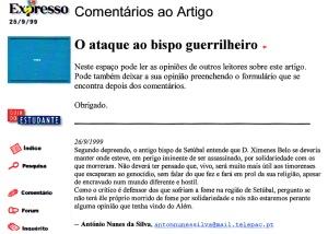 0230 Timor e o bispo de Setúbal -Expr onl 26-9-1999