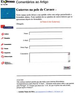 0239 Guterres na pele de Cavaco -Expr onl 9-10-1999