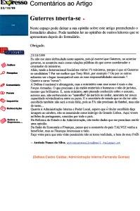 0249 remodelação ministerial de Guterres -Expr onl 23-10-1999