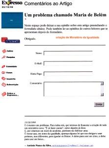 0250 criação Ministério da Igualdade -Expr onl 23-10-1999
