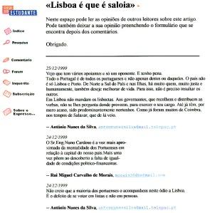 0283 rivalidade Porto-Lisboa -Expr onl 24-12-1999