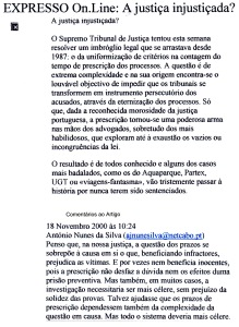 0430 A Justiça injustiçada -Expr onl 18-11-2000
