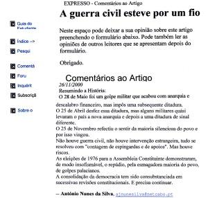 0437 resumo da história das últimas revoluções portuguesas -Expr onl 26-11-2000