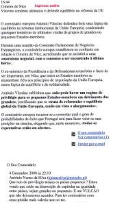 0445 Vitorino e Tratado de Nice -Expr onl 4-12-2000