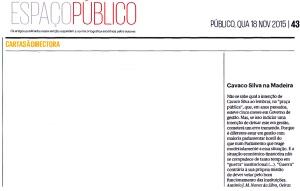 15-11-18 Declarações de Cavaco -Públ