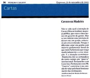 15-11-21 visita de Cavaco à Madeira -Expresso