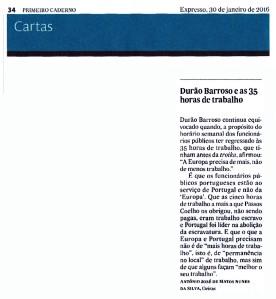 16-01-30 Barroso e as 35 horas de trabalho -Expresso papel