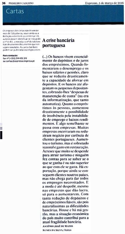 16-03-05 a crise bancária portuguesa -no Expresso